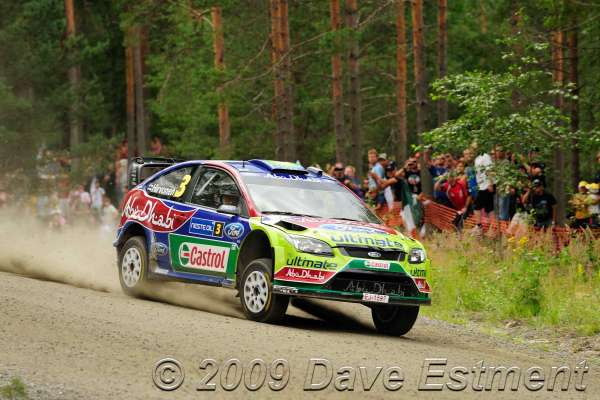 Mikko Hirvonen in action - last stage of Rally Finland