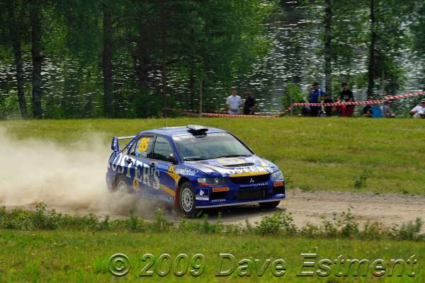 Pekka Vihma in action at Rally Finland 2009