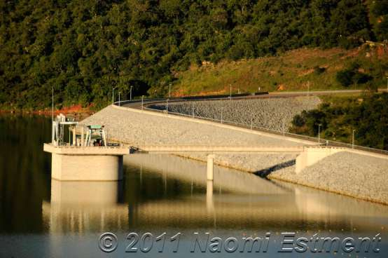 A section of the Maguga Dam Wall - Swaziland